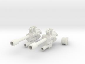 Sixshot Articulated Rifles in White Natural Versatile Plastic