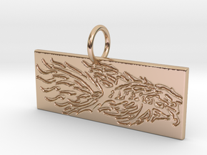 New Beginnings Key Chain/Pendant in 14k Rose Gold Plated Brass