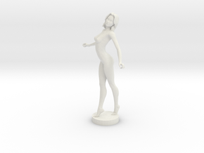 Sexy Nude Lady in White Natural Versatile Plastic