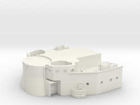 1/144 USS BB59 Command Bridge (bellow part) in White Natural Versatile Plastic