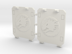 Space Dragons Light Tank Door Standard in White Natural Versatile Plastic