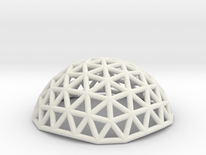 small geodesic dome in White Natural Versatile Plastic