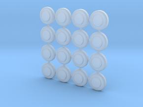 Dome Base Mini 1cm diameter 16off in Smooth Fine Detail Plastic