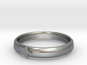 Luminous ring in Natural Silver
