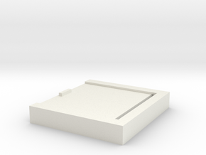 Simple charging cable storage box in White Natural Versatile Plastic