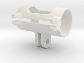 Flashlight GoPro Mount 21mm 90deg in White Natural Versatile Plastic