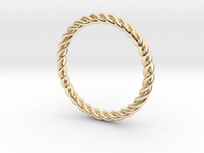 Ring Twisted 16 mm diameter or size 5.5  in 14K Yellow Gold