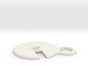 Hearing Aid Battery Case Part 3/5 in White Natural Versatile Plastic