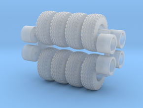 1/64 380/60-R16.5 Heavy Implement Wheels & Tires in Smooth Fine Detail Plastic