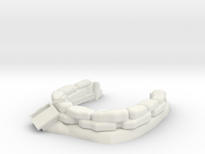 Sandbag Emplacement 1/43 in White Natural Versatile Plastic