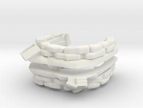Sandbag Emplacement (x2) 1/100 in White Natural Versatile Plastic