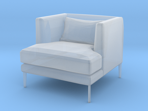 miniature 1:48 Armchair in Smooth Fine Detail Plastic: 1:48 - O
