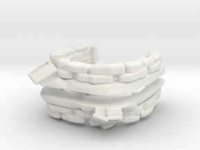 Sandbag Emplacement (x2) 1/120 in White Natural Versatile Plastic