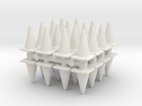 Traffic Cones (x32) 1/100 in White Natural Versatile Plastic
