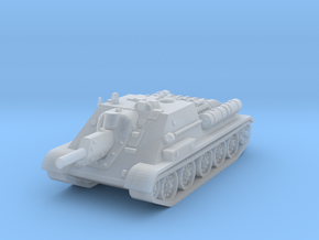SU-122 Tank 1/144 in Smooth Fine Detail Plastic