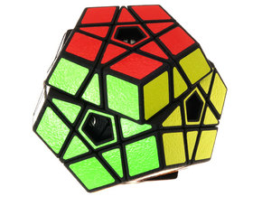 Slice Megaminx in White Natural Versatile Plastic
