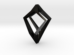 HEAD TO HEAD Natural, Pendant in Matte Black Steel