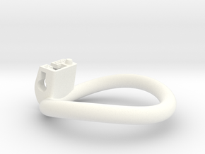 Cherry Keeper Ring - 48x53mm Tall Oval -15°~50.5mm in White Processed Versatile Plastic