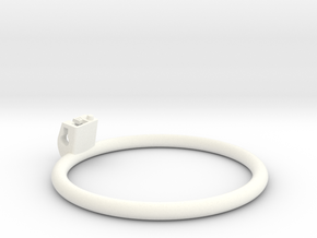 Cherry Keeper Ring - 97mm Flat in White Processed Versatile Plastic