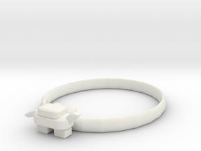 Key ring in White Natural Versatile Plastic