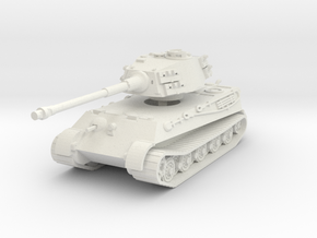 Tiger II H (no Skirts) 1/76 in White Natural Versatile Plastic