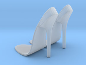 girl-sole base+heel2 in Smooth Fine Detail Plastic