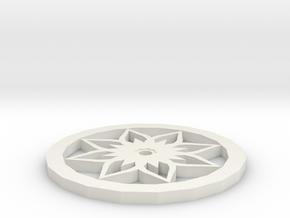 Lotus Pot Mat in White Natural Versatile Plastic