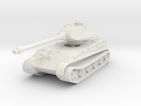 Tiger II P (no Skirts) 1/120 in White Natural Versatile Plastic