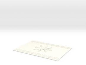 Ice fire Blanket in White Processed Versatile Plastic