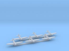 6pk Supermarine SeaFire Mk XV 1:1200 WW2 in Smooth Fine Detail Plastic