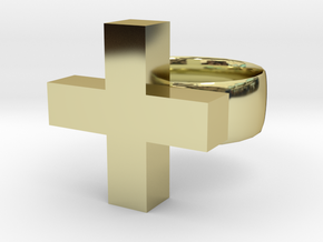 Addition Ring in 18k Gold Plated Brass