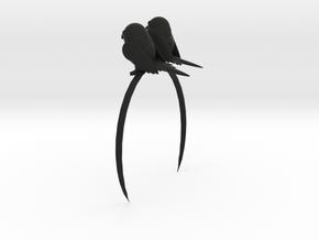 Stand here-Standing Parrot Headband in Black Natural Versatile Plastic