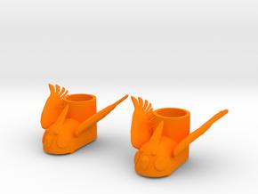 Fei Fei Fei—Xuan Cockatoo Snow Boots in Orange Processed Versatile Plastic