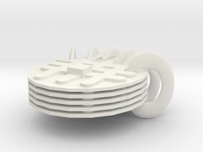 Muffin album-lattice in White Natural Versatile Plastic
