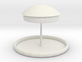 Multifunctional desk lamp in White Natural Versatile Plastic