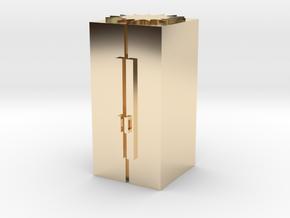 Smart refrigerator in 14K Yellow Gold