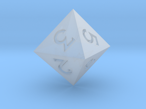 Sharp Edged d8 - Polyhedral Dice - 8 Sided Die in Smooth Fine Detail Plastic