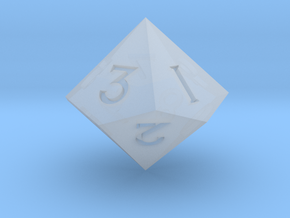 Sharp Edged d10 - Polyhedral RPG Dice in Smooth Fine Detail Plastic