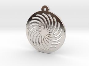 KTPD01 Spiral Die Cutting Pendant Jewelry in Rhodium Plated Brass