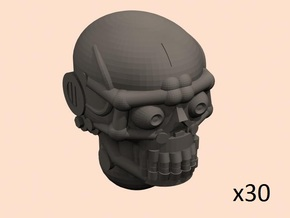 28mm robo skull heads x30 in Smoothest Fine Detail Plastic