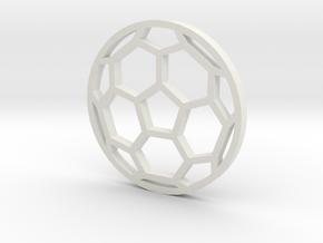 Soccer Ball - flat- outline in White Natural Versatile Plastic