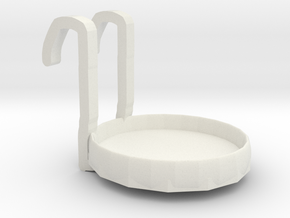 Simple aromatic strip placement platform in White Natural Versatile Plastic: Small