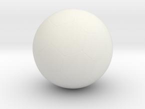 Soccer Ball in White Natural Versatile Plastic