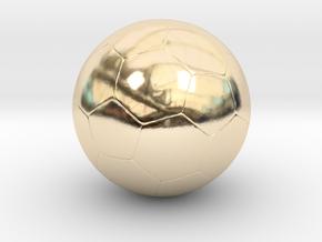 Soccer Ball in 14k Gold Plated Brass