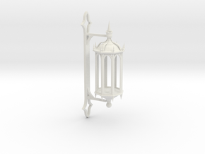 Wall Lantern in White Natural Versatile Plastic