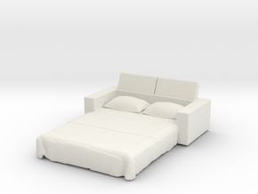 Sofa Bed 1/72 in White Natural Versatile Plastic
