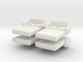 Sofa Bed (x4) 1/160 in White Natural Versatile Plastic