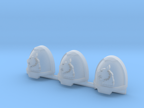 White Panthers Gravus Shoulder Pads L #1 in Smooth Fine Detail Plastic