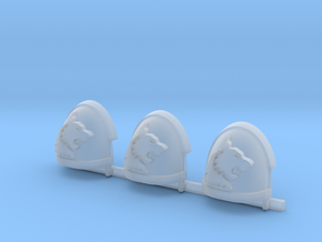 White Panthers Gravus Shoulder Pads R #2 in Smooth Fine Detail Plastic