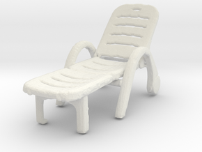 Deck Chair 1/43 in White Natural Versatile Plastic
